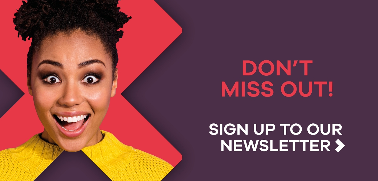 E-newsletter sign up at Xscape Milton Keynes Girl with Yellow Top