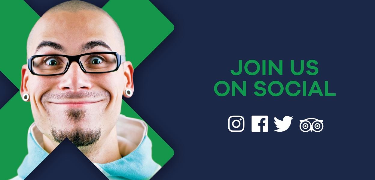 Join us on social media