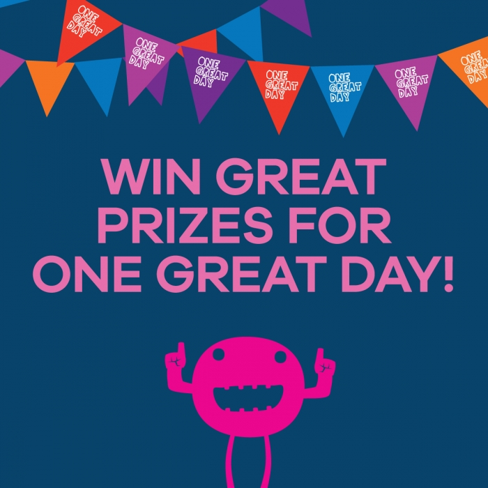 Win prizes this September One Great Day Online Prize Draw
